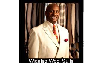 wideleg wool suits