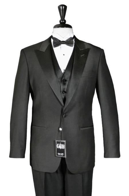 1-Button Peak 1920s tuxedo