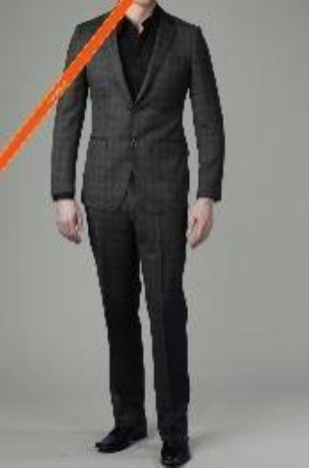 2 Button Charcoal Color Suit