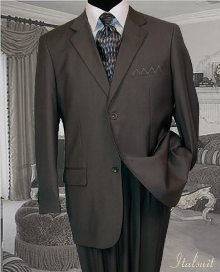 2 Button Gray Pinstripe Suit