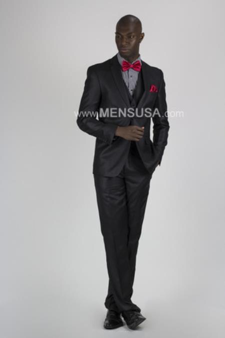 Button Style Suit Slim