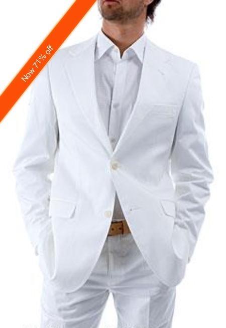 2-Button White Suit +