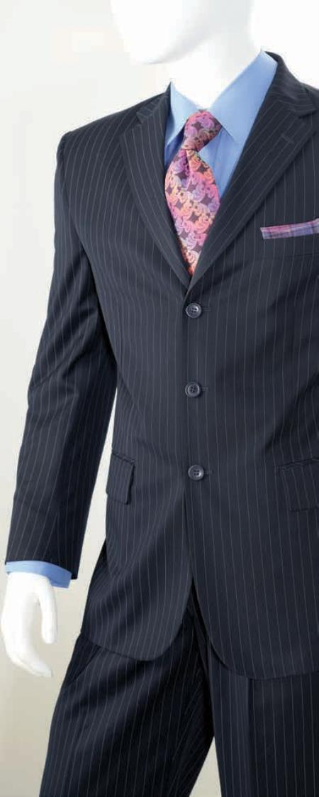2 Piece Classic Big And Tall men's Suits - Pinstripe