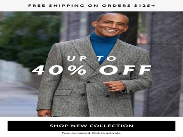 Mens Up to 40% off