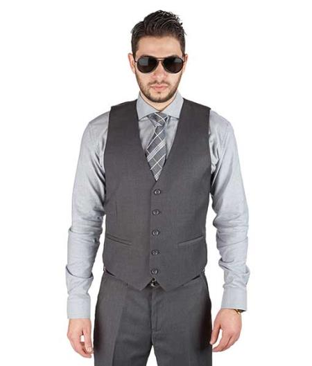 5 Button Grey Fashionable