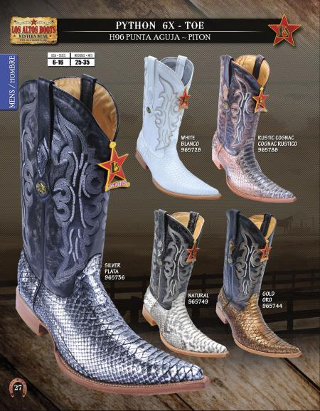 Product#PHR56 Authentic Los altos 6X Toe Genuine Python ~ Snake Western Cowboy Boots