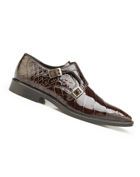 Mens Genuine Alligator Leather