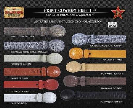 Anteater Print Cowboy Belt