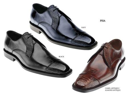 Product#PN63 Belvedere attire brand Shoes for Online Available Colors In Black, Navy And Almond Antique