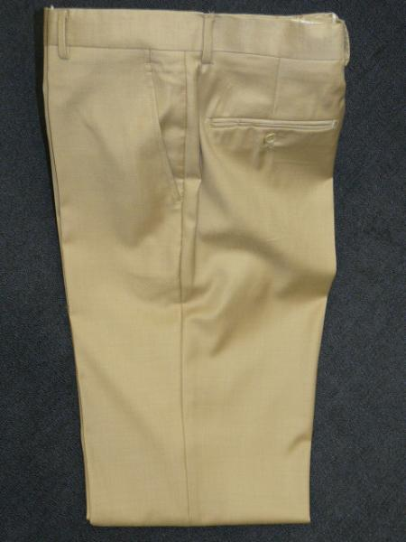 Product# KA1237 BEIGE 100% Wool Fabric , Superior Fabric 140'S Solid ~ plain FRONT PANTS
