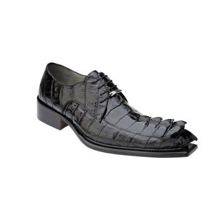Product#PN-R71 Belvedere attire brand Zeno Hornback Shoes for Online Antique Liquid Jet Black