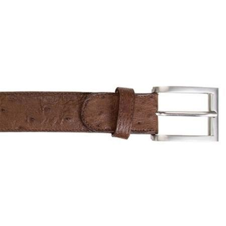 Product# KA8222 Belvedere attire brand brown color shade Ostrich Quill Belt Available In 1 Size Only 44w