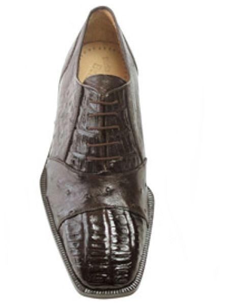 Brown Dress Shoe Belvedere attire brand Onesto Dark brown color shade