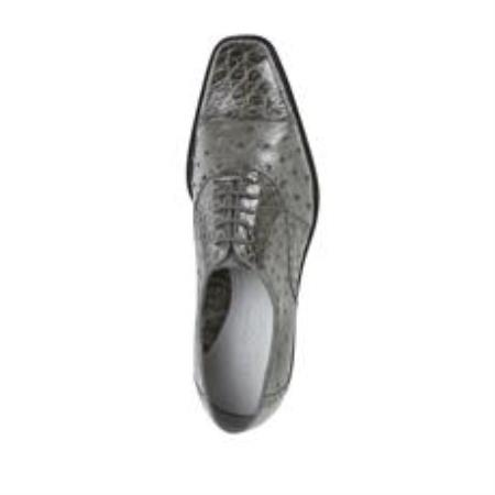 Product# AC12Z Belvedere attire brand Onesto II Ostrich/Crocodile Shoes for Online Gray