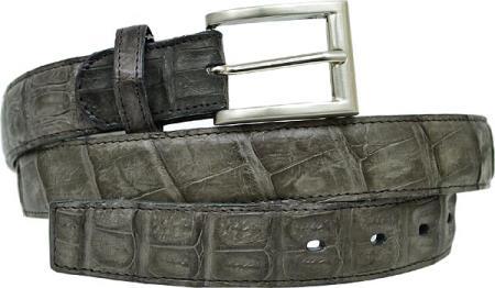 Belvedere attire brand Grey All-Over Genuine Hornback Crocodile ~ Alligator skin Belt