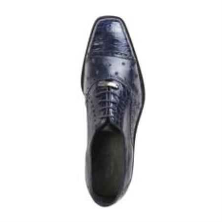 Product# AC10Z Belvedere attire brand Onesto II Ostrich/Crocodile Shoes for Online Navy