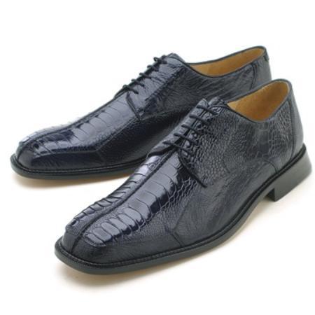 Product# KA6340 Belvedere attire brand Men's Navy Genuine Ostrich