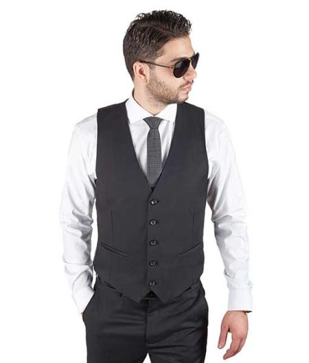 Black 5 Button Fashionable
