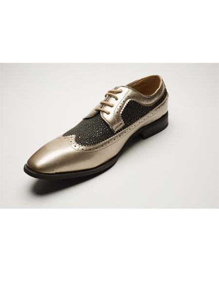 Mens Two Toned Wingtip