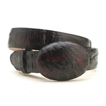 Product# QMY02 Liquid Jet Black Cherry cai ~ Alligator skin Hornback