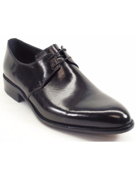 Carrucci Black Genuine Calfskin