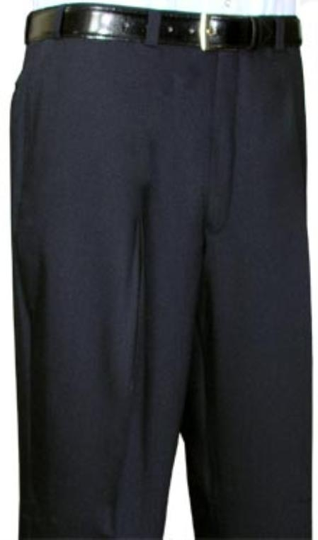 Product# FJU643 Cotton Summer Light Weight Liquid Jet Black Flat Front Pant