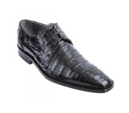 Product# KA1517 Liquid Jet Black Genuine All-Over Crocodile ~ Alligator skin Belly Shoes for Online