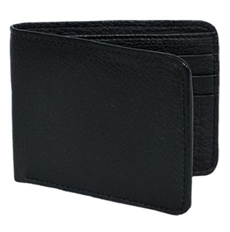 Product# ELK9911 Wallet ~ billetera ~ CARTERAS Liquid Jet Black Genuine Elk Card Holder Wallet