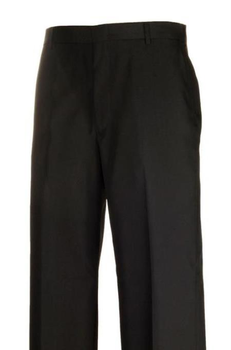 Product# JSM-4428 Black Separate Flat Front Dress Pants