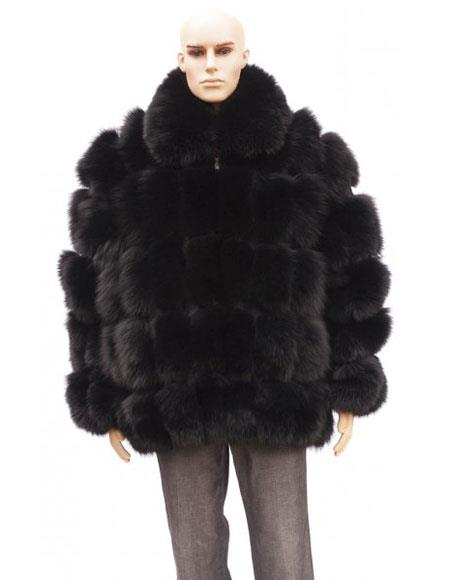 Mens Fur Black Full
