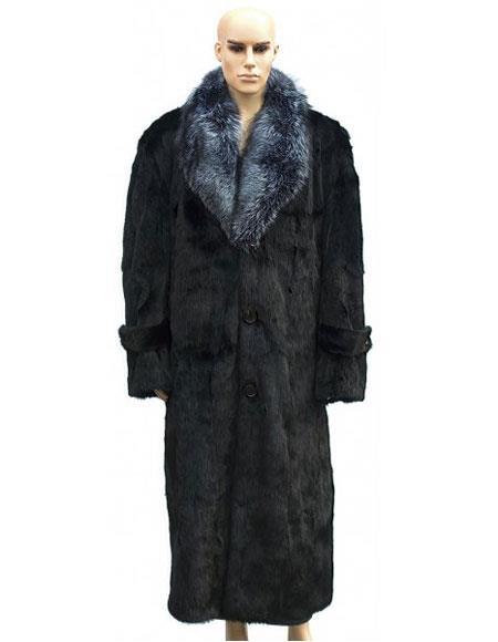 Mens Fur Black Full