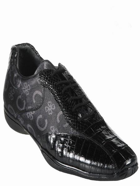Product#KA5570 High Top Exotic Skin Sneakers for Gator Belly-Fashion Shoe – Liquid Jet Black
