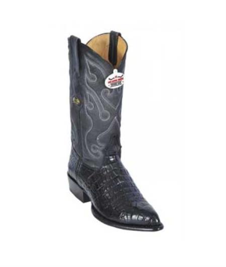 Product#KA1255 Authentic Los altos Liquid Jet Black All-Over Alligator skin Belly J - Toe Print Cowboy Boots