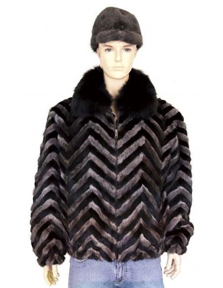 Mens Fur Black/Grey Pull-Up