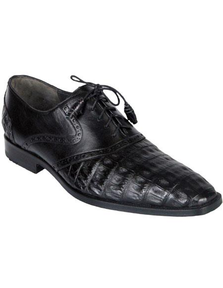 Mens Oxfords Black Genuine