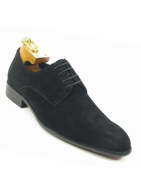 Product# JSM-5623 Men's Laceup Style Black Suede Fashionable Carrucci Shoes