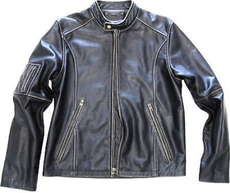 Geuine Leather Moto Jacket