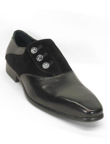 Mens Genuine Black Leather