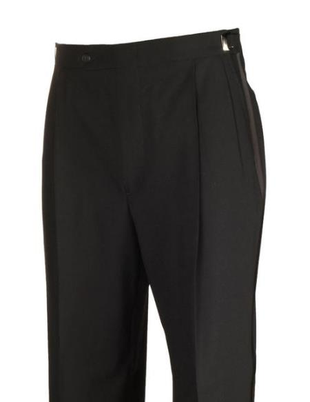 Product# JSM-4444  Legacy Fit Black Tuxedo Dress Pants