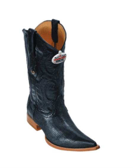 Product# VT6299 Liquid Jet Black Ring Lizard Cowboy Boots