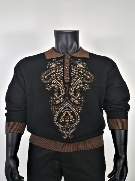 Mens Embroidered Sweater