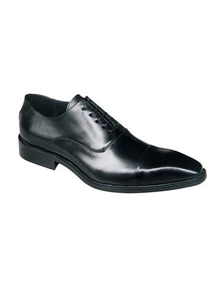 Product# JSM-5639 Zota Black Lace Up Classic Oxford Leather Zota Unique Men's Dress Shoes