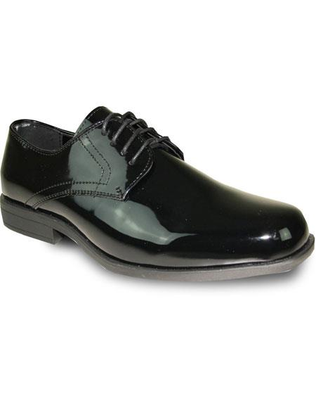 Product# JSM-6064 Men's Tuxedo Black Patent Oxford Formal for Prom & Wedding Lace Up Dress Mens Shoes