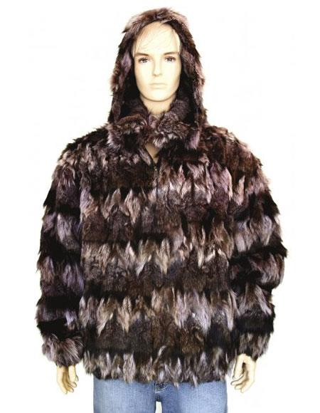 Mens Handmade Fur Black/Pink