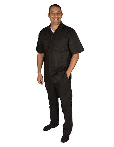 Mens Black Short Sleeve