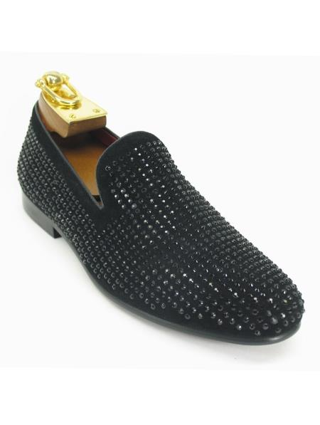 Mens Fashionable Carrucci Crystal