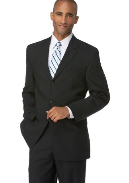 Liquid Jet Black 3 Button Style Polyester affordable suit Online Sale