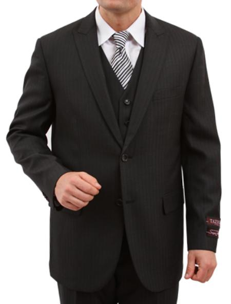 Product# M159000 Solid Liquid Jet Black 2 Button Style Front Closure Discounted Online Sale Fit Suit