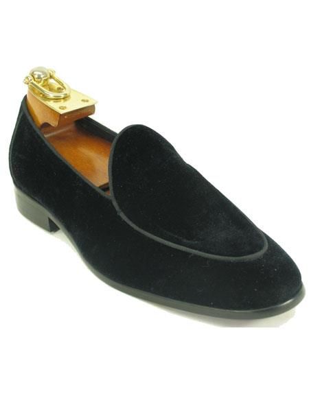 Mens Black Genuine Velvet