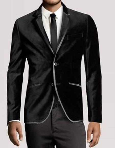 Product# PR7683 New Luxury PartyWear Liquid Jet Black Velvet 2 Button Style Wedding formal tux Jacket Coat Blazer Online Sale